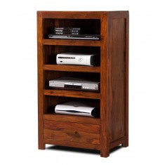 Mandir Sheesham Tall Hi-Fi Shelving Unit