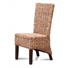 Milano Rattan Dining Chair - Dark Leg