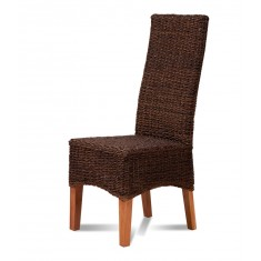 Antonio Rattan Dining Chair - Light Leg