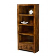 Dakota Mango 3-Drawer Bookcase