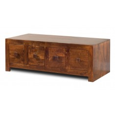 Dakota Mango 8-Drawer Coffee Table