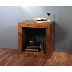 Dakota Mango Cube Side Table