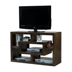 Soho Dark Mango Open TV Shelving Unit