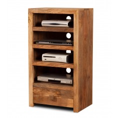 Dakota Light Mango Tall Hi-Fi Shelving Unit