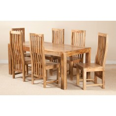 Dakota Light Mango 6-Seater Dining Set