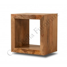 Dakota Light Mango Cube Side Table