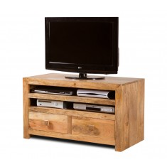Dakota Light Mango Large 2-Drawer TV Cabinet