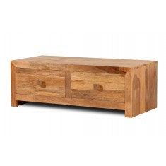 Dakota Light Mango 4-Drawer Coffee Table