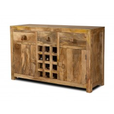 Dakota Light Mango Large Open Sideboard