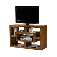 Dakota Mango Open TV Shelving Unit