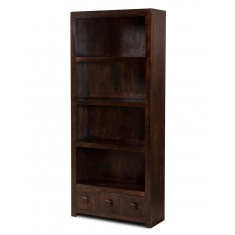 Dakota Dark Mango 3-Drawer Bookcase