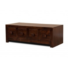 Dakota Dark Mango 8-Drawer Coffee Table