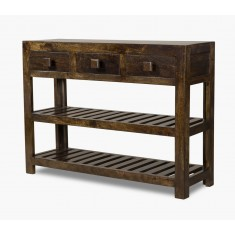 Dakota Dark Mango Large Console Table
