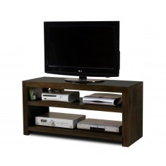 Dakota Dark Mango Wide Hi-Fi Shelving Unit