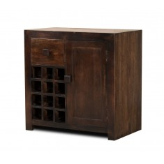Dakota Dark Mango Wine Cabinet