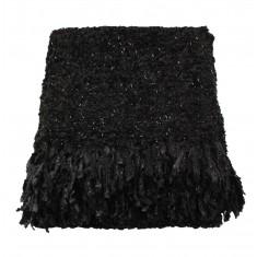 Black Sparkle Weave Large Throw
