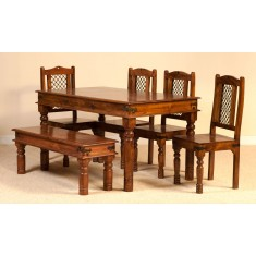Tenali Mango 6 Seater Dining Set with Bench