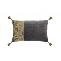 Marrakesh rectangular cushion charcoal