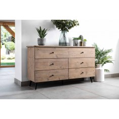 Seville Reclaimed 6 Drawer Wide Chest