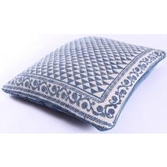 Blue Aztec Cotton Cushion 50x50cm