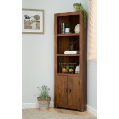 Dakota Mango Corner Bookcase