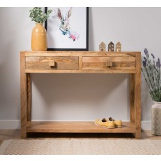 Dakota Light Mango Console Table