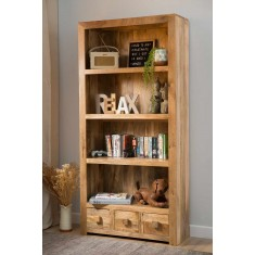 Dakota Light Mango Tall Bookcase