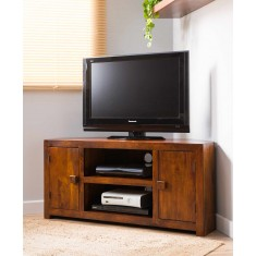Dakota Mango Large Corner TV Unit