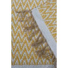 Jute Cotton Zig-Zag Rug - Yellow