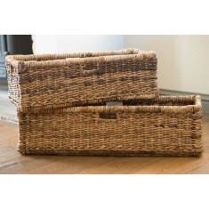 Large Rattan Storage Basket - Natural