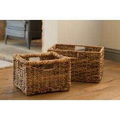Small Rattan Storage Basket - Natural