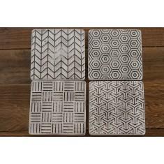 Elegance Stone Coasters Set of 4