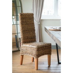 Catalina Rattan Dining Chair - Light Leg