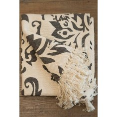 Patterned Cotton Throw - 130x150cm
