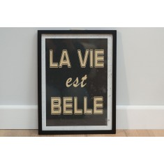 Life Is Beautiful- Framed Poster