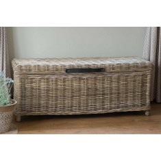 Kubu Rattan Blanket Box - Large