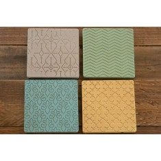 Multicoloured Stone Coasters Set of 4