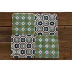 Patterned Stone Coasters Set of 4