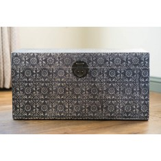 Silver Embossed Small Trunk