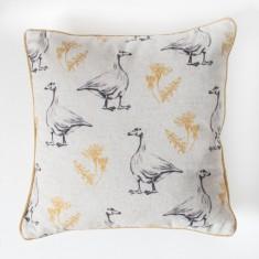 Goose and Dandelion Cushion Ochre