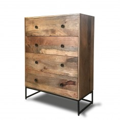 Imari Industrial Mango 4-Drawer Chest