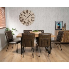 Imari Industrial 6-Seater Dining Set - Manhattan Chairs
