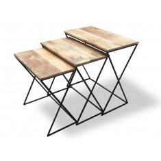 Imari Industrial Light Mango Cross-Leg Trio Nest