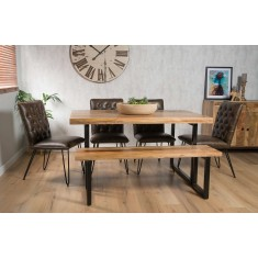 Imari Industrial 6-Seater Dining Bench Set - Manhattan Chairs