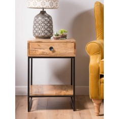 Imari Industrial Mango Side Table