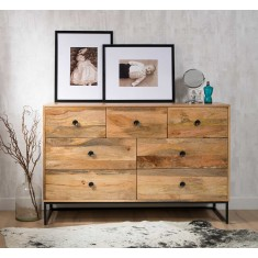 Imari Industrial Mango Large Chest Of Drawers