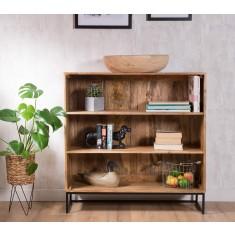 Imari Industrial Mango Small Bookcase