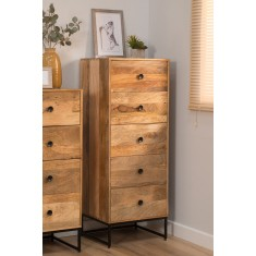 Imari Industrial Mango Tall Chest Of Drawers