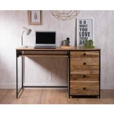 Imari Industrial Mango Modular Pedestal Desk