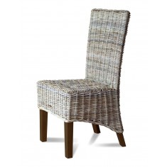 Kubu Rattan Dining Chair - Dark Leg